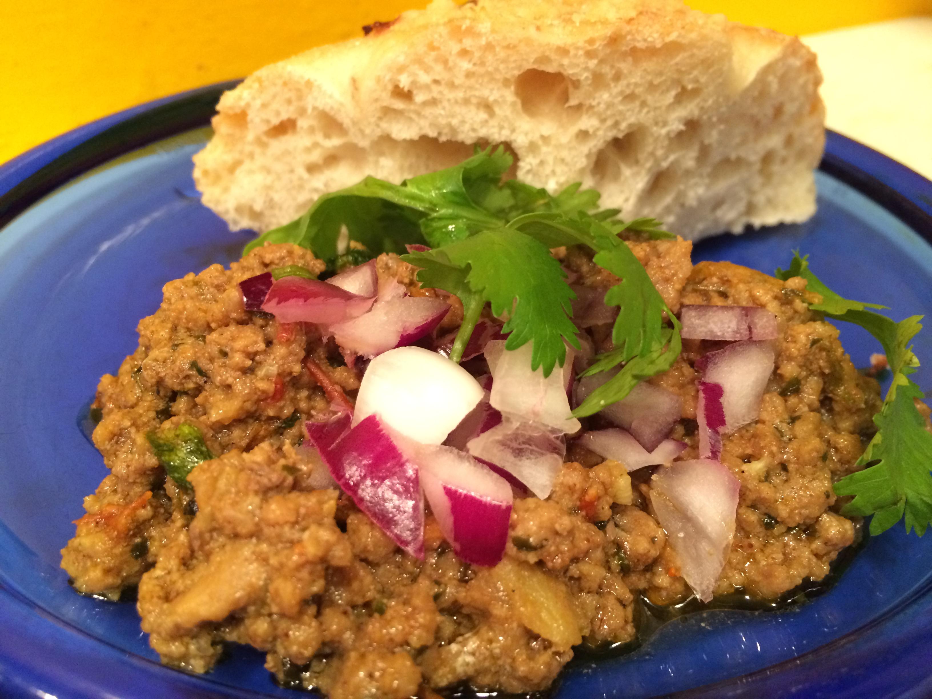 Kheema Pav / Spiced Ground Meat